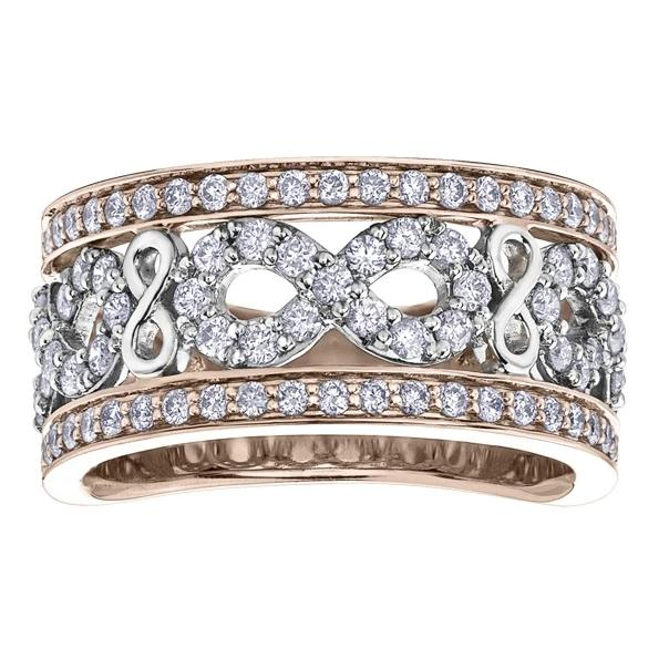 10KT TWO TONE 1.00CTTW PAVE INFINITY DIAMOND RING