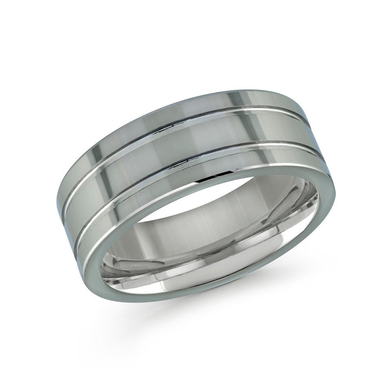 Men's Polished Tungsten Wedding Band