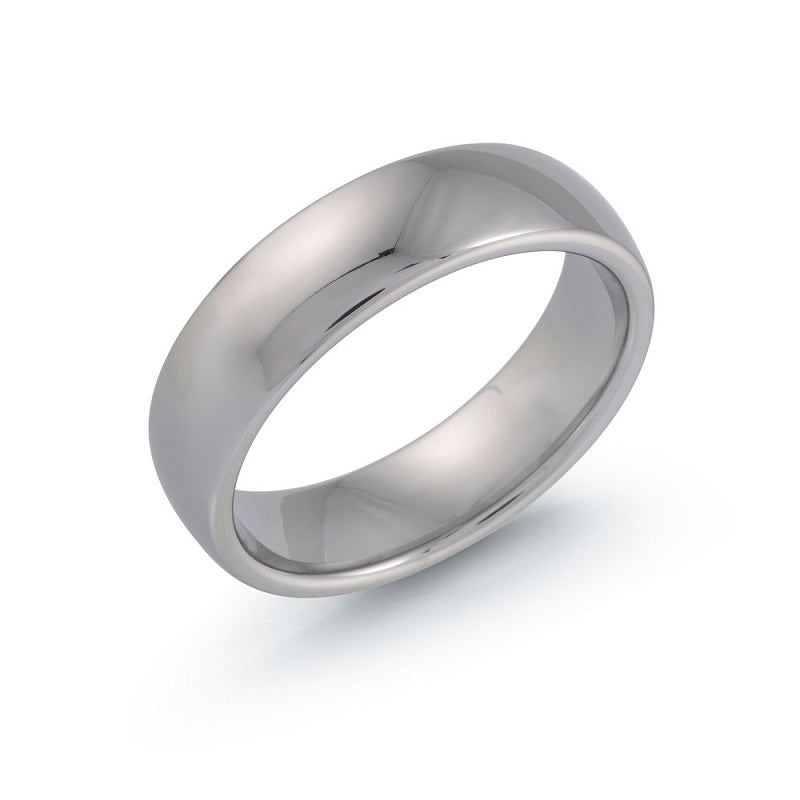 Men's Classic Polished Tungsten Wedding Ring