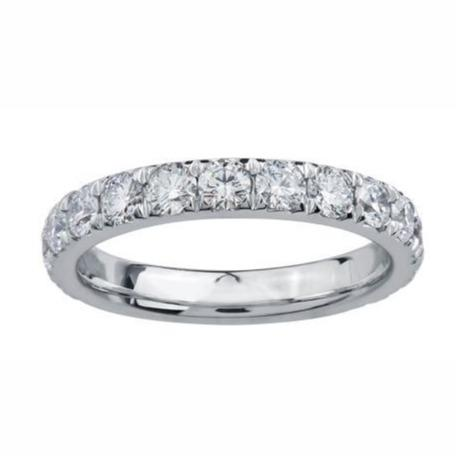 18kt White Gold 0.75cttw Diamond Wedding Band