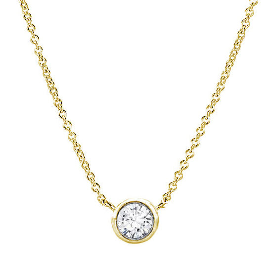 18kt Yellow Gold 0.18ct Delicate Diamond Necklace