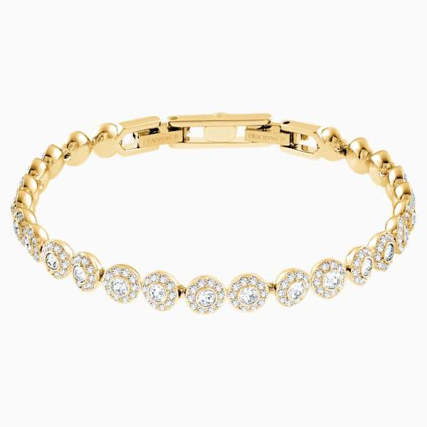 Swarovski Angelic Bracelet, White, Gold-Toned Plated