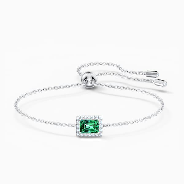 Swarovski Angelic Bracelet, Green, Rhodium Plated