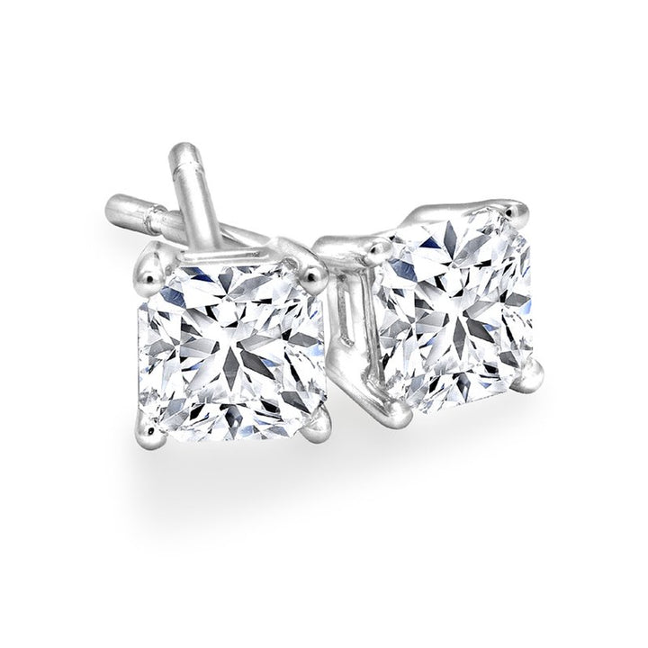 Princess Cut 0.40cttw Canadian Diamond Stud Earrings