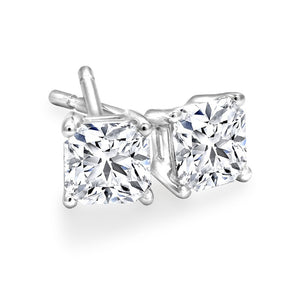 Princess Cut 0.50cttw Canadian Diamond Stud Earrings