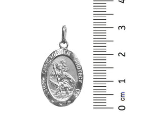 10kt White Gold St. Christopher Pendant