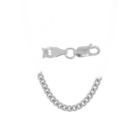 Sterling Silver 8.5 Inch Curb Chain Bracelet