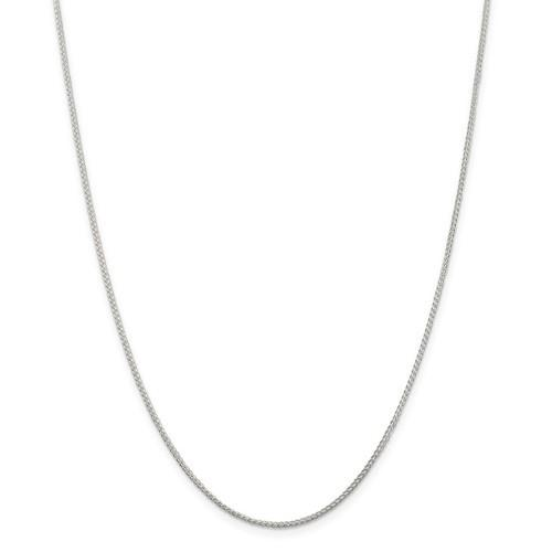 10KT WHITE GOLD CURB CHAIN