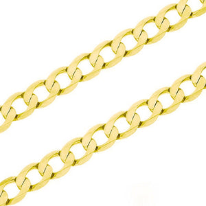 10kt Yellow Gold 3.5mm Curb Chain