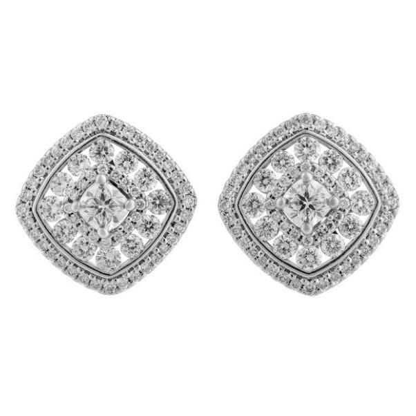 14KT 1.94CTTW HALO EARRINGS WITH CANADIAN DIAMONDS