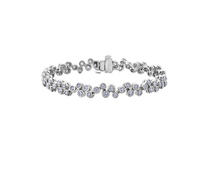 14kt White Gold 2.50ttw Diamond Bracelet