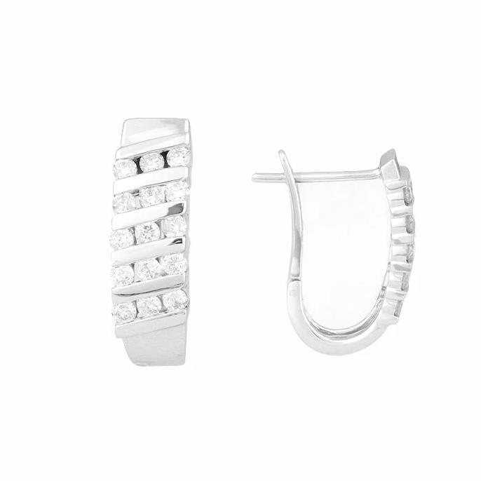 10KT WHITE GOLD 0.50CTTW DIAMOND EARRINGS