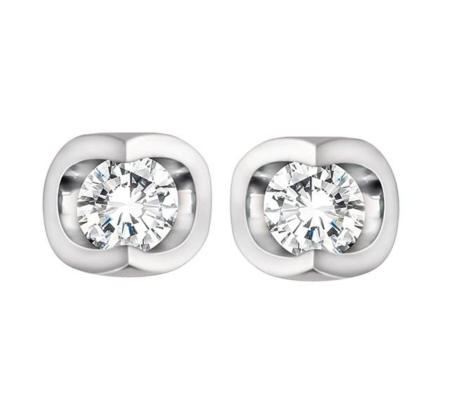 14kt White Gold Diamond Stud Earrings