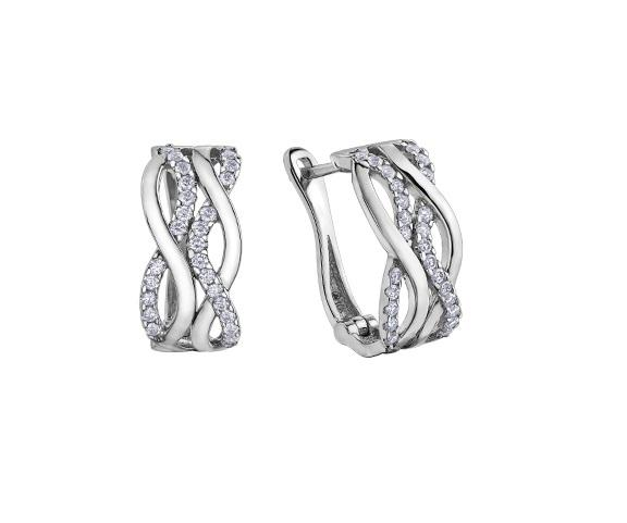 10kt White Gold 0.50cttw Diamond Earring