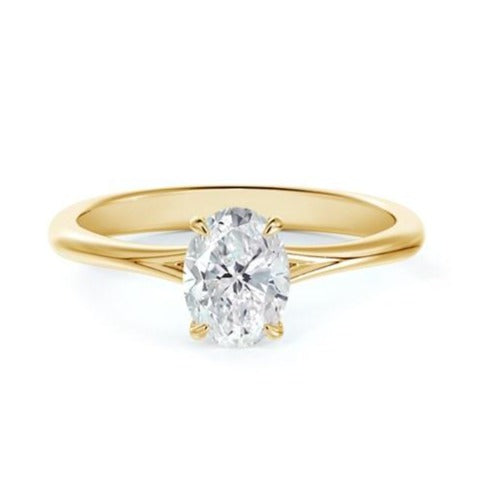 18kt Yellow Gold Forevermark 1.01ct Oval Solitaire Engagement Ring