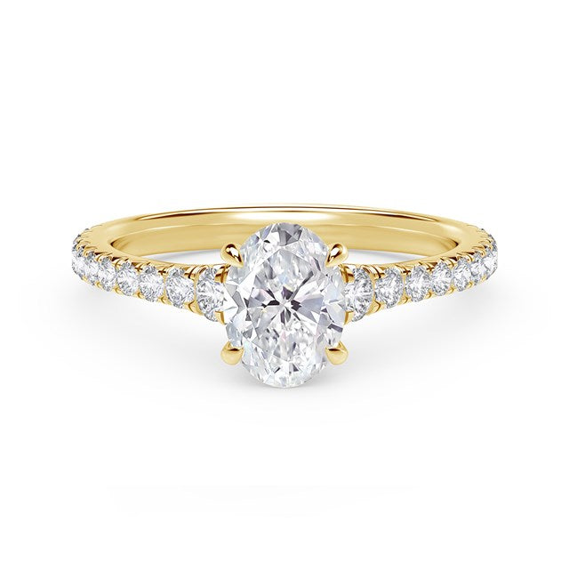 18kt Yellow Gold 0.99cttw Oval Engagement Ring