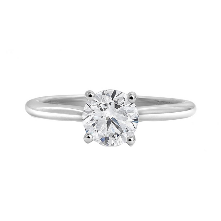 14kt White Gold 1.51ct Round Certified Diamond Solitaire
