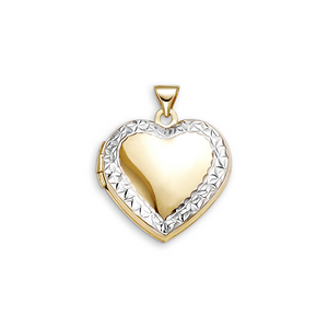 10kt Yellow and White Gold Heart Locket