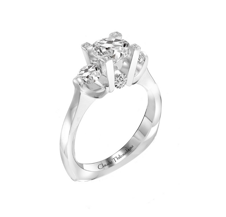 18kt 2.12cttw Round Diamond Engagement Ring