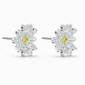 Swarovski Eternal Flower Stud Earrings, Yellow, Mix Metal Finish