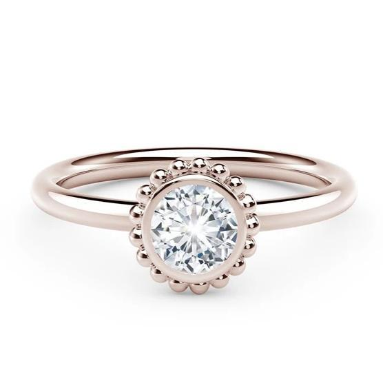 18kt Rose Gold 0.26ct Forevermark Solitaire Diamond Ring