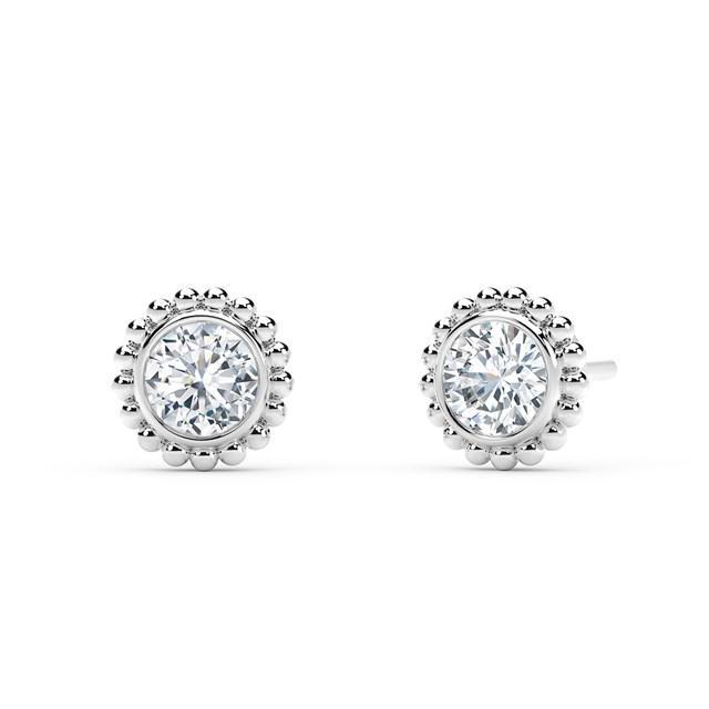 18kt White Gold 0.30cttw Round Diamond Stud Earrings