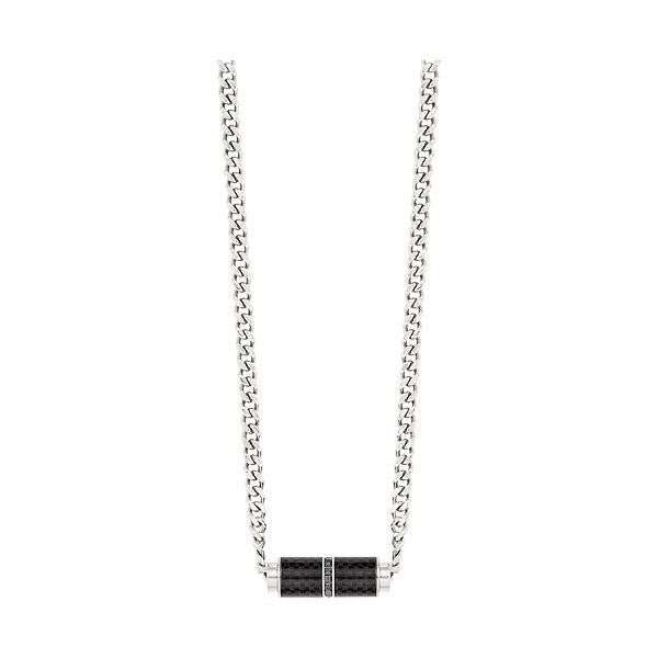 Swarovski Black Jet Hematite Crystal Men's Necklace
