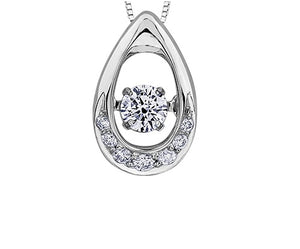 10kt Moving Canadian Diamond Pendant