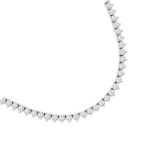 14kt White Gold 7.66cttw Round Diamond Necklace