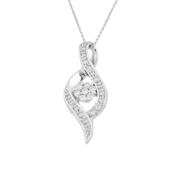 14KT WHITE GOLD 0.25CTTW DIAMOND PENDANT