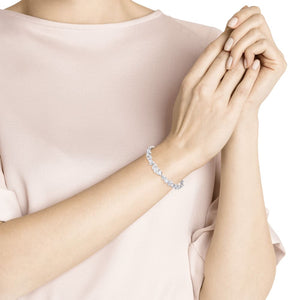 Swarovski Louison Bracelet, White, Rhodium Plated