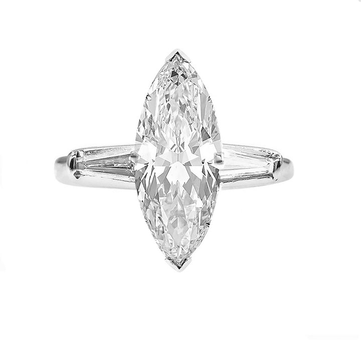 14kt White Gold 3.85cttw Marquise Diamond Engagement Ring