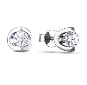 14kt White Gold 0.10cttw Canadian Diamond Stud Earrings