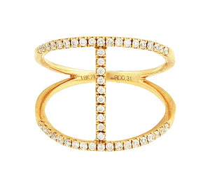 18kt Yellow Gold 0.31cttw Diamond Ring