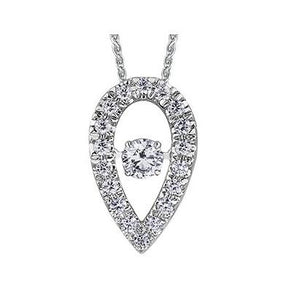 14kt Moving Diamond Pendant Canadian Center Stone