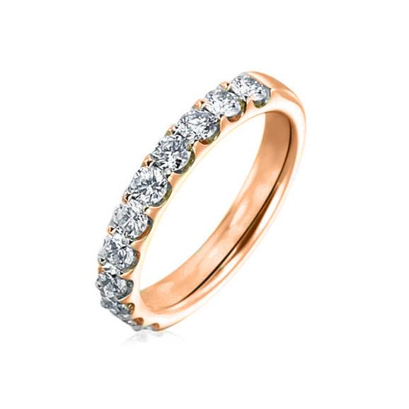 10KT ROSE GOLD 0.50CTTW DIAMOND WEDDING BAND