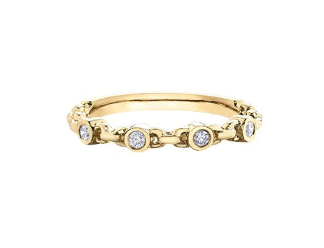 10kt Yellow Gold 0.10cttw Diamond Stackable Ring