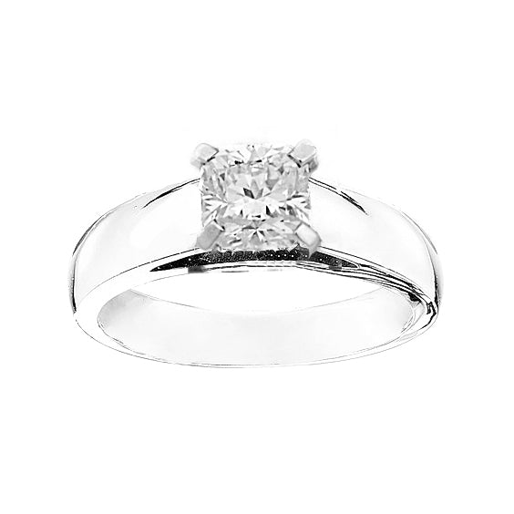 14kt White Gold 0.39ct Princess Of Hearts Solitaire Canadian Diamond