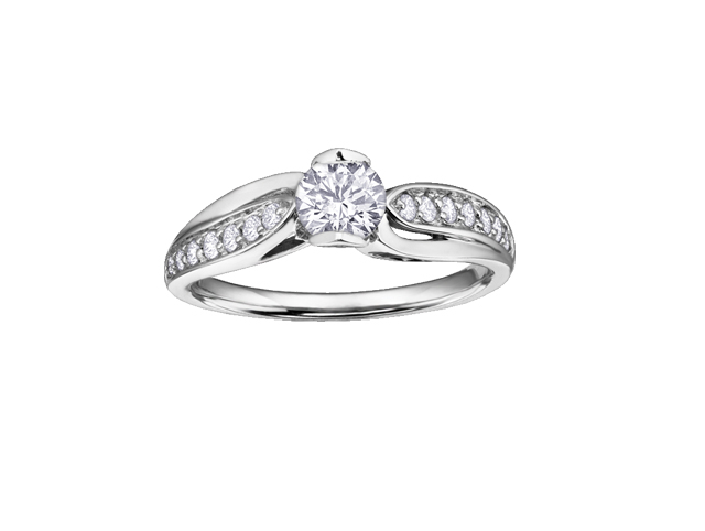 14kt White Gold 0.62cttw Canadian Diamond Engagement Ring