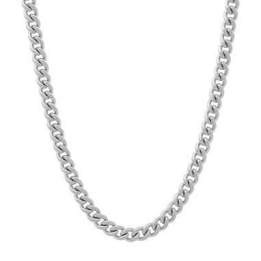 Sterling Silver 4mm Curb Chain in 22""