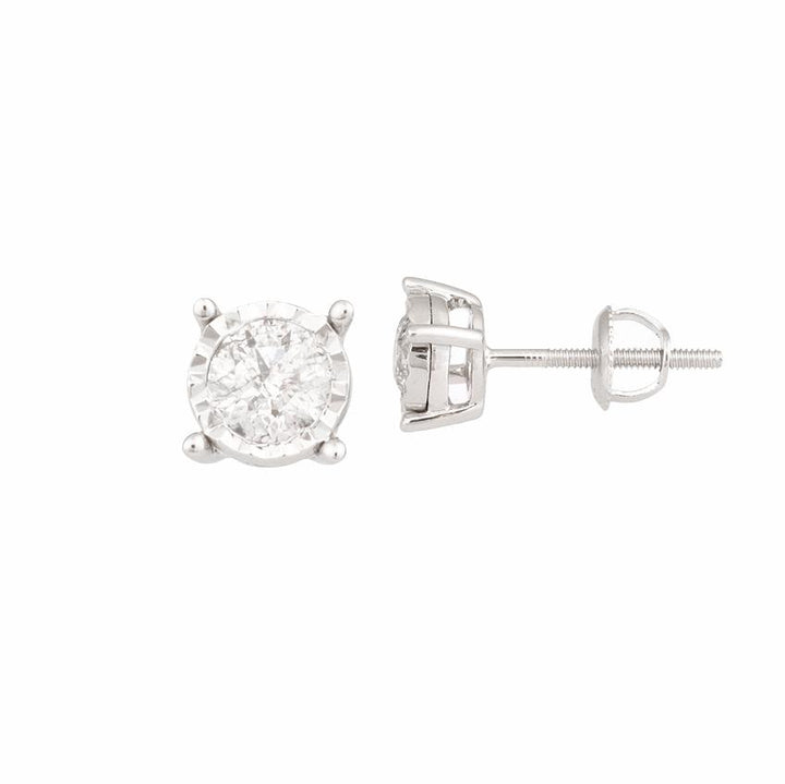 10KT WHITE GOLD DIAMOND STUDS