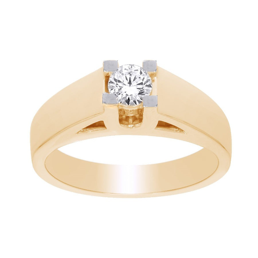 14kt Yellow Gold 0.50ct Round Solitaire Diamond Engagement Ring