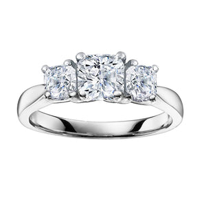 18kt White Gold 2.52cttw Cushion Cut Diamond Ring
