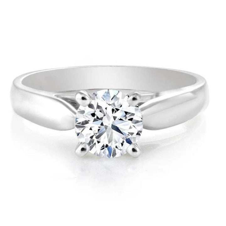 14kt White Gold Certified 1.50ct Solitaire Diamond Engagement Ring