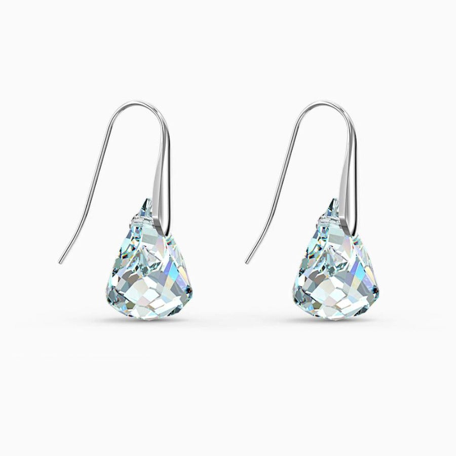 Swarovski Spirit Pierced Earrings, White, Rhodium Plated