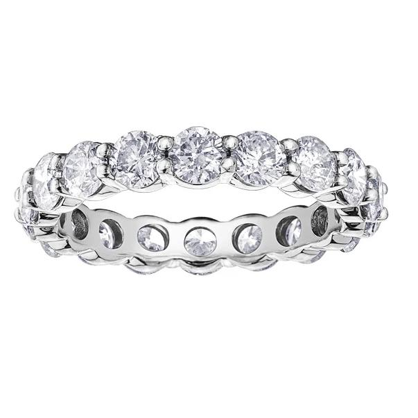 10KT WHITE GOLD 3.00CTTW ETERNITY DIAMOND BAND