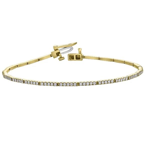 10KT YELLOW GOLD 1.00CTTW  DIAMOND TENNIS BRACELET