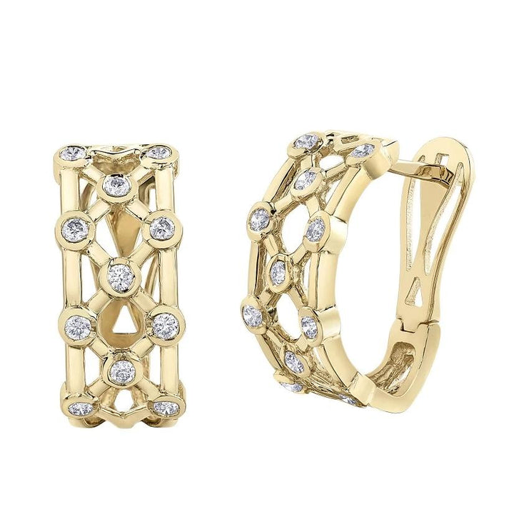 10KT YELLOW GOLD 0.50CTTW DIAMOND EARRINGS