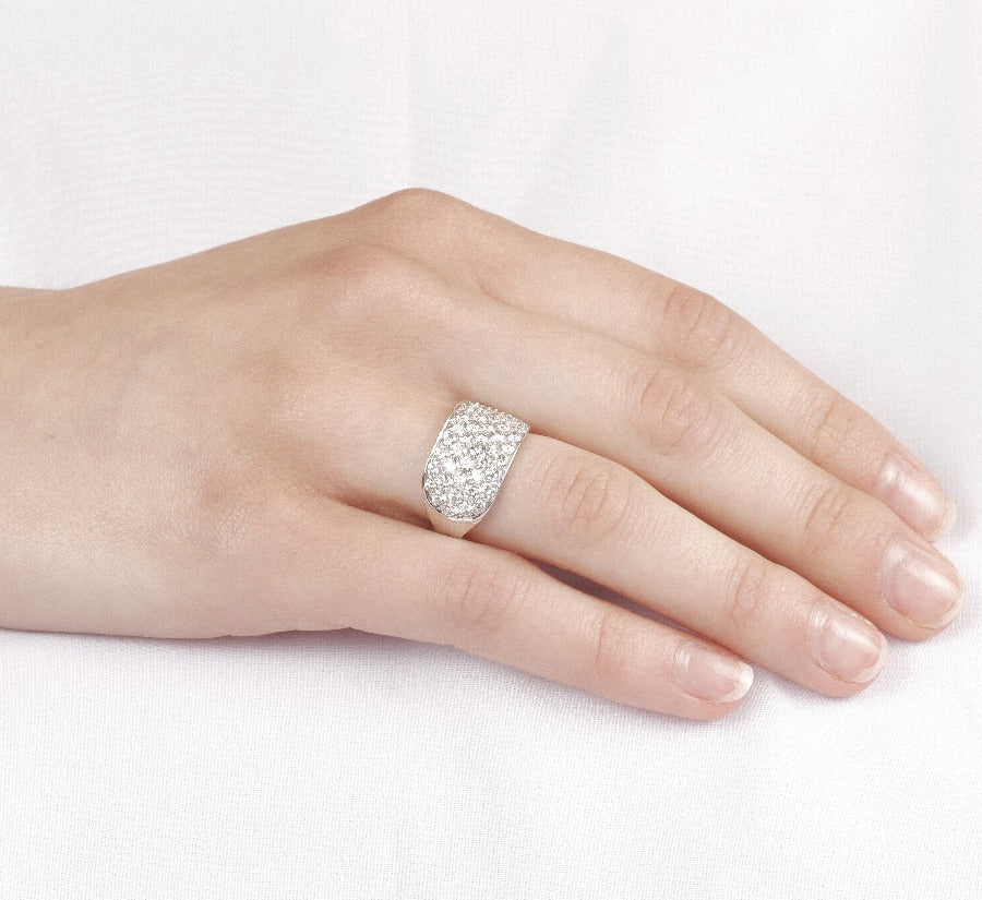 10kt White Gold 2.00cttw Wide Pave Diamond Band