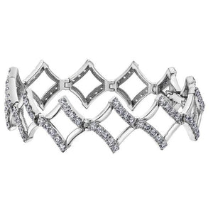 10KT WHITE GOLD 1.00CTTW PAVE DIAMOND BRACELET